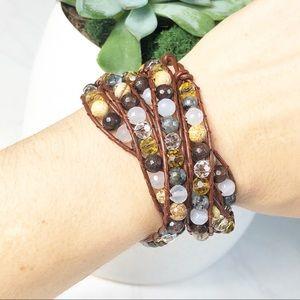 Victoria Emerson Wrap Bracelet Brown Multi